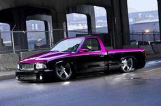 It'd be nice on mine, same color split, different shape. Bagged Trucks, Lowered Trucks, Dually Trucks, Mini Trucks, Pickup Trucks, S10 Pickup, S10 Truck, Chevy Luv, Lowrider Trucks