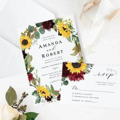 Wedding Invitation Printable Invitation Suite - Amanda Collection