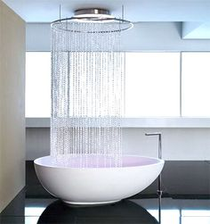 This shower is so cool. But I would still want a vintage style claw-foot tub.