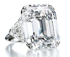 Rectangular cut diamond ring ✿⊱╮