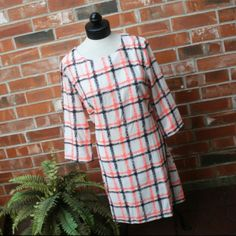 🎁SALE NWOT Fashion Union Plaid Orange Black Dress 🎁I'm currently running an additional sale. See listing at the top of my closet for details and end date.🎁  Reduced from $25 to $8! FINAL PRICE!  This dress is new w/o tags.  It's a thin material & not lined, so you can wear it in warmer weather. It's white w/neon orange & black plaid & zips up the back.  It's not a high quality dress, but it can definitely be cute w/accessories!  It's a lady's L & would best fit a 12.  I will post…