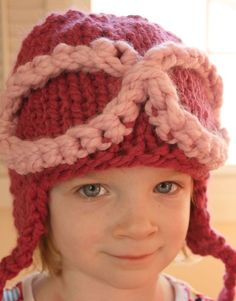Raspberry and Pink Flying Ace Aviator Hat with Goggles on Etsy, $20.00
