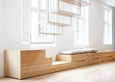 meuble rangement sous fenêtre - loft Oslo - Le blog deco de mlc