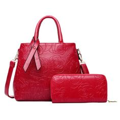 Graceful Floral Embossed and Solid Color Design Women's Tote Bag #>=#>=#>=#>=#> Click on the pin to check out discount price, color, size, shipping, etc. Save and like it!
