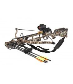 This model of Crossbow is the Deluxe version of the EK Archery Jaguar crossbow and features a red dot sight, sling, and a 3 bolt quiver for added versatility. Crossbow Hunting, Hunting Rifles, Survival Weapons, Survival Tools, Zombie Plan, Red Dot Scope, 175 Pounds, Crossbow Bolts, Bow Quiver