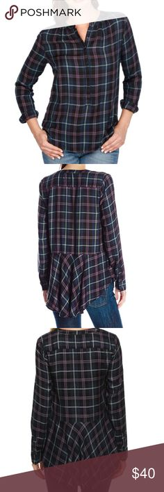 Selling this Lucky Brand Women Girlfriend Plaid Shirt 3X blouse on Poshmark! My username is: dressbuyless. #shopmycloset #poshmark #fashion #shopping #style #forsale #Lucky Brand #Tops