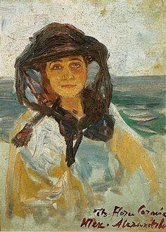 Portrait of a woman -  Thalia Flora-Karavia - Expressionism