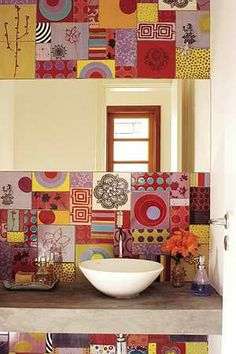 Tiles in many colors - so quirky and pretty.