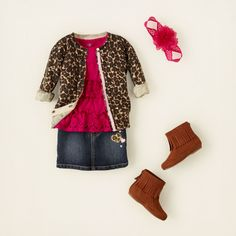 baby girl - outfits - animal lover - leopard girl | Children's Clothing | Kids Clothes | The Children's Place