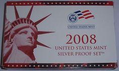 2008 US Mint Silver Proof Set Complete w/ Mint Box & COA