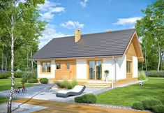DOM.PL™ - Projekt domu ARN Sezam CE - DOM RS1-24 - gotowy koszt budowy Malaga, Patio, Outdoor Decor, House, Home Decor, Houses, Homemade Home Decor, Yard, Terrace