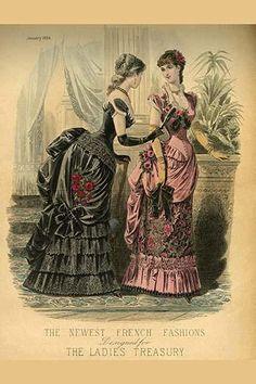 Ladies Treasury Magazine of French Fashion, Newest French Fashions, 1884.