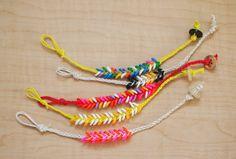 Melted Perler bead braided bracelet | Pink Stripey Socks