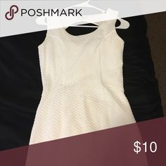 White dress Fits like a tighter dress, only worn once, great condition Charlotte Russe Dresses