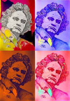 mr marian hergouth, Beethoven collage Music Quotes, Projects To Try, Digital Art, Van, Portraits, Artist, Collage, Paper, Canvas