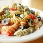 Tasty }- Awesome Confetti Pasta Salad - Additions to this from HER recipe are: A large purple onion, finely chopped, 1 container FRESH grated parmesan, 1 bottle McCormick salad toppings