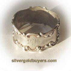 Antique Sterling Silver Napkin Ring by silvergoldbuyers on Etsy, $59.00