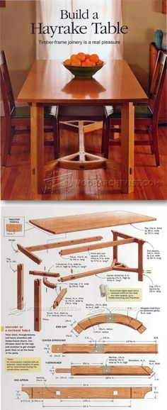 Hayrake Table Plans - Furniture Plans and Projects   WoodArchivist.com