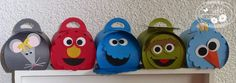 Stampin Spirit: Curvy Sesame Street their names Ienimini, Elmo, Cookie Monster, Oscar & Pino