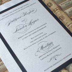 Elegant Wedding invitations  Jacklynn Script by JenSimpsonDesign, $5.25