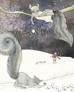 2011 Holiday Card giclee print by maorinette on Etsy, $20.00