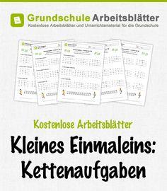Kostenlose Arbeitsblätter und Unterrichtsmaterial zum Thema Kleines Einmaleins: Kettenaufgaben im Mathe-Unterricht in der Grundschule.