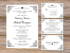Disney inspired Mickey Mouse flourish wedding invitation suite by Sugar Queens / fairytale / happily ever after / ornate