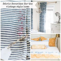 Beautiful fabrics to mix and match in a vintage-style home