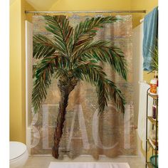 Bay Isle Home Swansea Shower Curtain Tropical Curtains Beach Tree