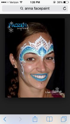 Frozen face paint but leave out the blue lips. They never look good