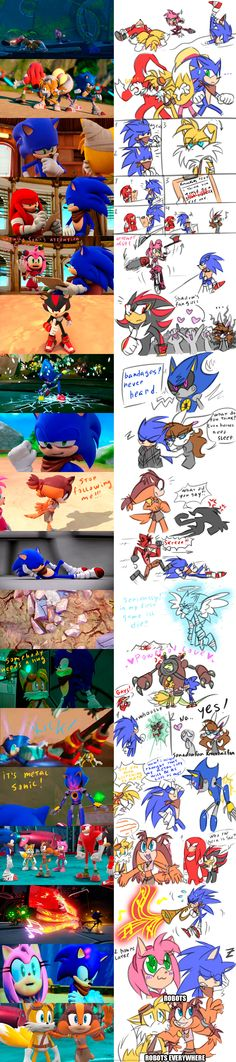 Sonic Boom: Random Screenshots redraw by HoshiNoUsagi on DeviantArt