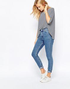 Bild 4 von Monki – Skinny-Jeans mit hohem Bund
