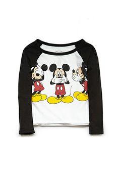 Mickey Mouse Baseball Tee (Kids) | FOREVER21 girls - 2000088479