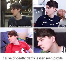You know why we never see this side of his face? BECAUSE HES ALWAYS LOOKING AT PHIL HES SUCH TRASH SMH