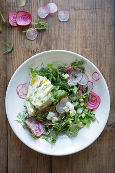 Fresh Spring Salad with Poached Cod | 29 Gorgeously Green Recipes To Get You Excited About Spring