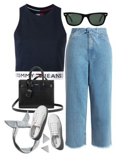 """""""Sin título #2251"""" by alx97 ❤ liked on Polyvore featuring Zimmermann, Tommy Hilfiger, Yves Saint Laurent, Pull&Bear, Abercrombie & Fitch and Ray-Ban"""