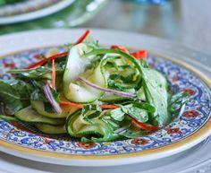summer side dish: courgette & arugula salad