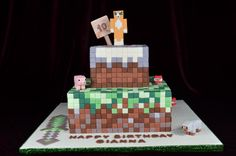 Minecraft Cake , pig, stampy longnose, sheep and TNT in sugar