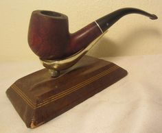 Vintage Dr. Grabow Crown Duke Bent Billiard Estate Briar Tobacco Smoking Pipe