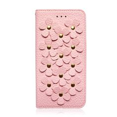 """iPhone 7 Case (4.7""""), Premium Handmade PU Leather Wallet Case with 2 Card Holder for iPhone 7, Book Design 3D Flower Patchwork Flip Cover Case for Girls and Women (Pink). iPhone 7 Plus wallet case (5.5"""" case) with 2 credit card slots and a side pocket for paper money. Made of Microfiber PU leather, these leathers were selected for quality, strength, character and grain, they look stylish, feel nature and soft. 100% handmade, this iPhone 7 Plus leather case was engineered piece by piece by..."""