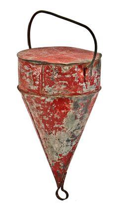 antique steel buoy