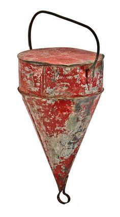antique steel buoy