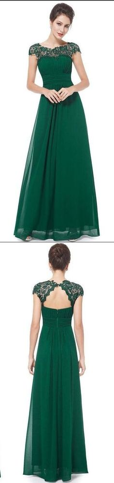 New Arrival Long Prom Dress Evening Dresses Green Chiffon Prom Dresses Sexy Summer Gowns For Pageant
