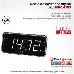 ¡Despertarse con música, la mejor manera de empezar el día! Radio despertador AEG MRC 4157 http://www.electroactiva.com/aeg-mrc-4157-radio-despertador-digital-con-usb-para-carga-de-movil-am-fm-usb-aux-in-blanco-y-negro.html #Elmejorprecio #Radiodespertador #Despertador #Chollo #Electronica #PymesUnidas