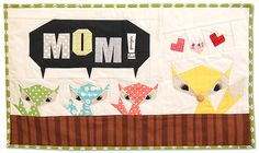Paper piecing pattern by Artsania. Quilt by Ayumi of Pink Pengin. Too cute for words!