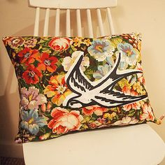 Cute pillow idea but using a different fabric pattern.