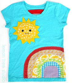 A Sunny Day Embellished Shirt or Tunic  Chasing by LemonTreeStudio, $21.95