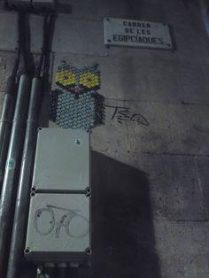 Calle de Barcelona, chapas