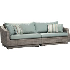 Shop Wayfair for Patio Sofas & Loveseats to match every style and budget. Enjoy Free Shipping on most stuff, even big stuff. - $1529.99