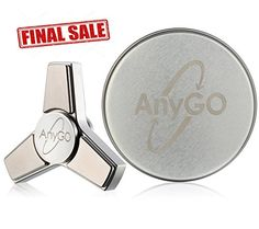 Metal Fidget Spinner Toy made of Stainless Steel by AnyGO - Hand Spinner Toy Stress Reducer Cool Fidget Spinners, Metal Fidget Spinner, Hand Spinner, Fidget Toys, Stainless Steel, Stress, Tripod, Edc, Amazon